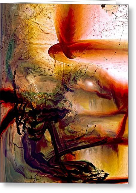 Gravity Of Love Greeting Card by Linda Sannuti