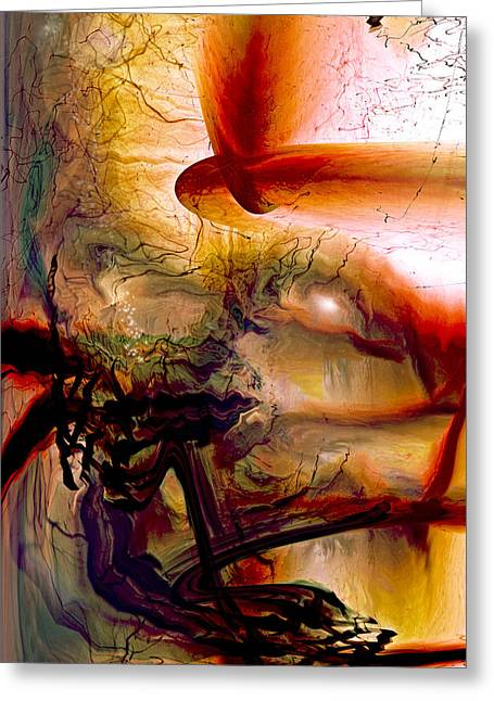 Recently Sold -  - Abstract Expression Greeting Cards - Gravity Of Love Greeting Card by Linda Sannuti