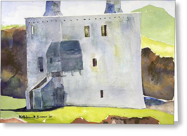 Gray Castle Greeting Card