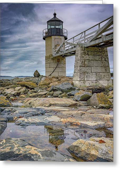 Greeting Card featuring the photograph Gray Day At Marshall Point by Rick Berk