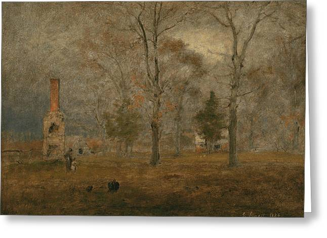 Gray Day, Goochland Greeting Card by George Inness