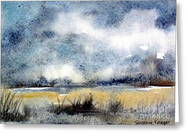 Gray Day Greeting Card by Suzanne Krueger