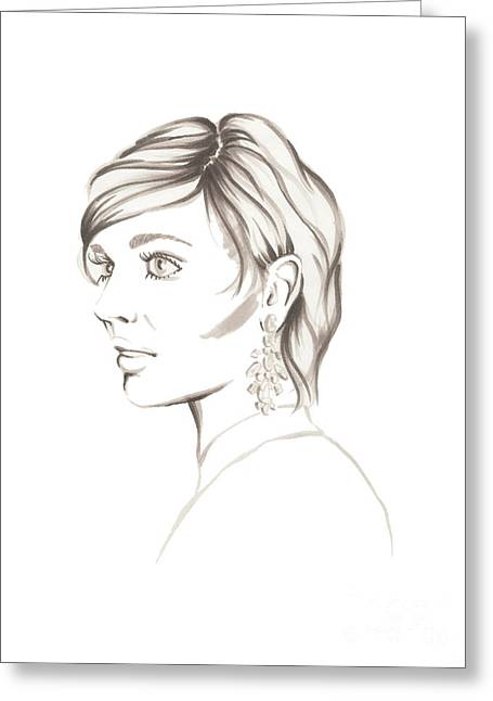 Gray Lady Greeting Card by Samantha Burns