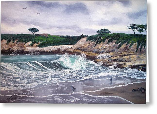 Gray Morning At Santa Cruz Greeting Card