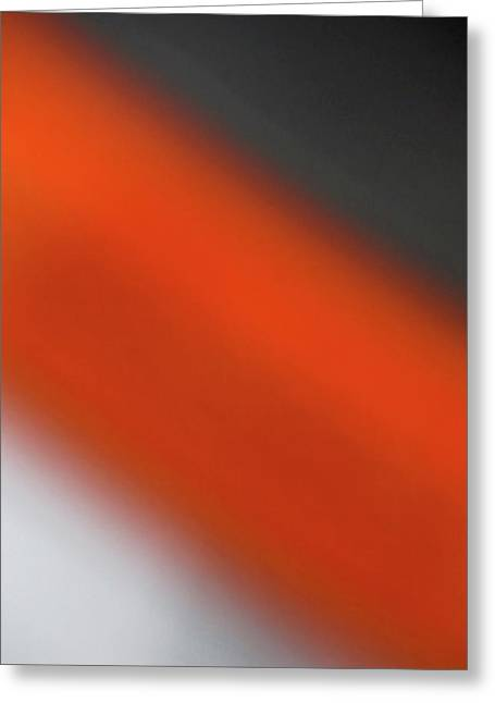 Restaurant Art Greeting Cards - Gray Orange Grey Greeting Card by CML Brown