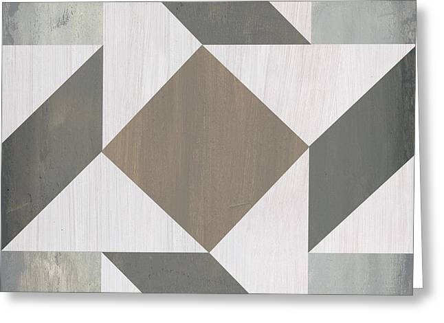 Gray Quilt Greeting Card by Debbie DeWitt