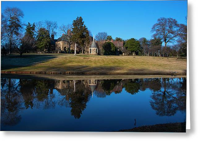 Graylyn House In Reflection Greeting Card
