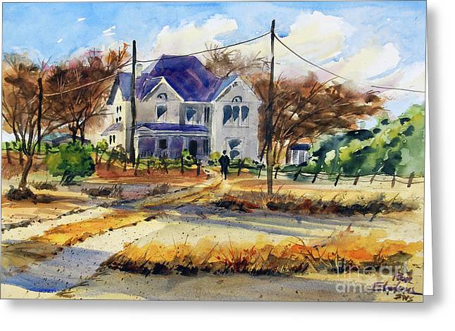 Grayson County Farmhouse Greeting Card by Ron Stephens