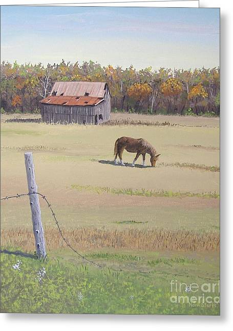 Grazing At Peace Greeting Card