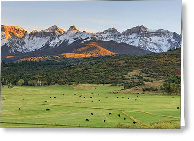 Grazing Under Sneffels Greeting Card