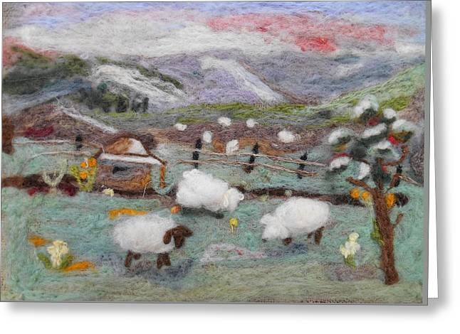 Grazing Woolies Greeting Card