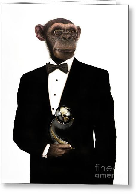 Great Ape Greeting Card by Carlos De Las Heras