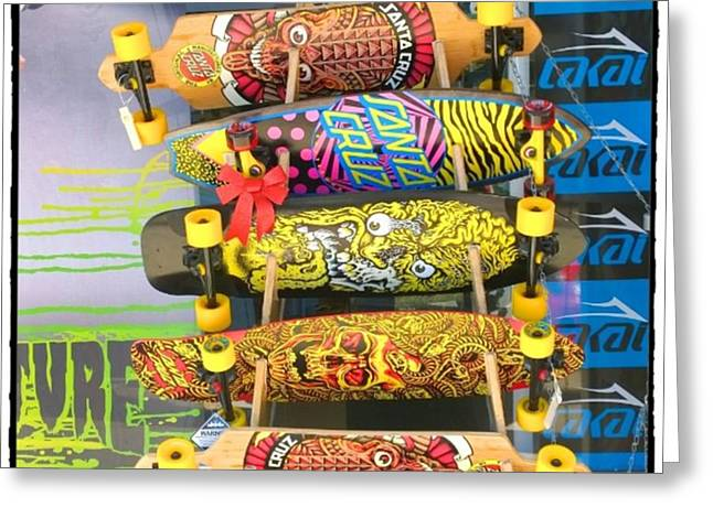 Great Art On These Skateboards! Greeting Card by Shari Warren