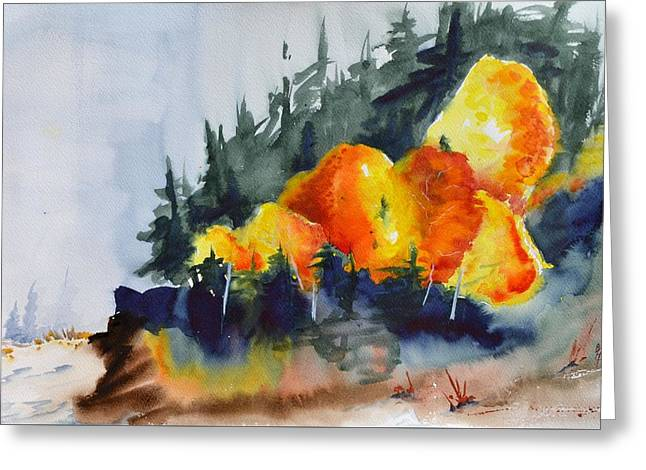 Great Balls Of Fire Greeting Card by Beverley Harper Tinsley
