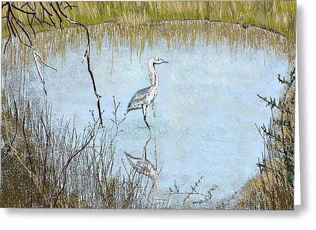 Great Blue Greeting Card by Carole Boyd