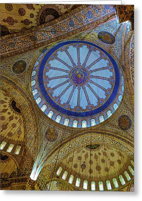 Great Blue Dome Greeting Card