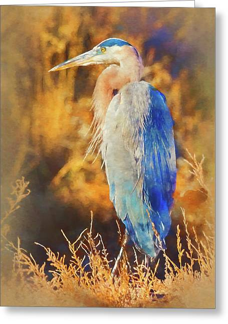 Greeting Card featuring the photograph Great Blue Heron by Bellesouth Studio