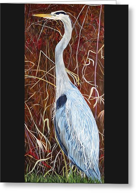 Great Blue Heron Greeting Card by Marilyn  McNish