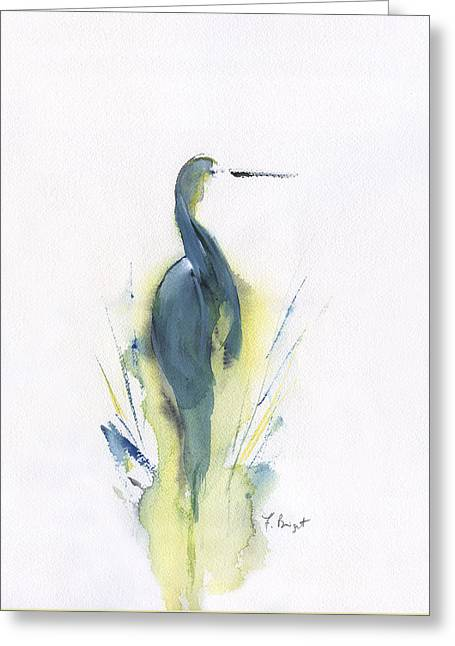 Blue Heron Turning Greeting Card