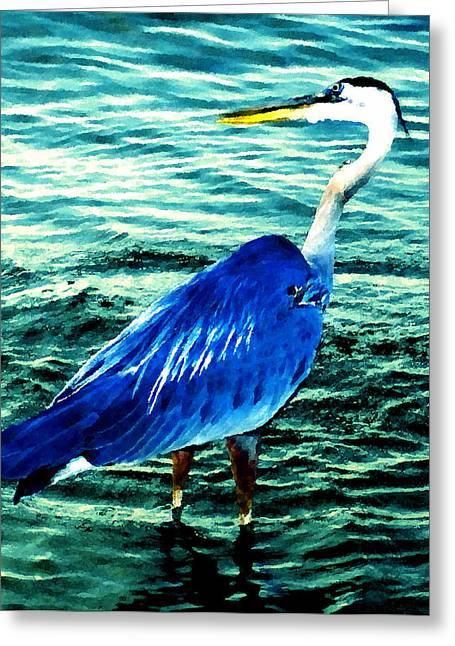 Great Blue Splash Greeting Card by David Lee Thompson