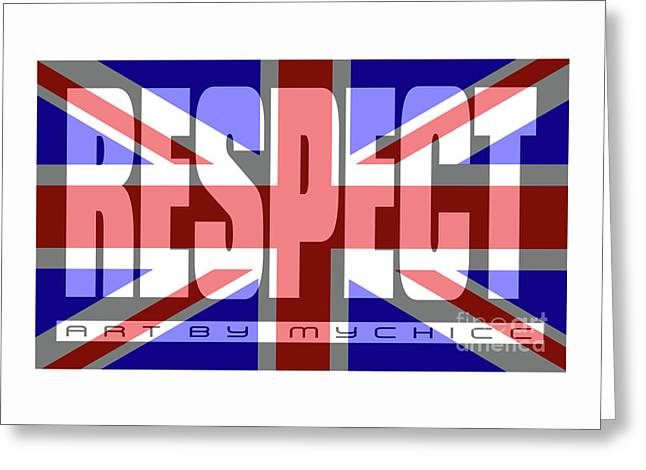 Great Britain Flag Respect Greeting Card