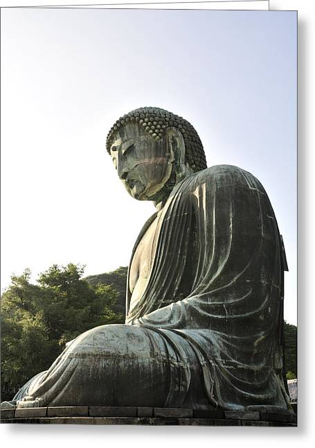 Great Buddha Of Kamakura Greeting Card by Andy Smy