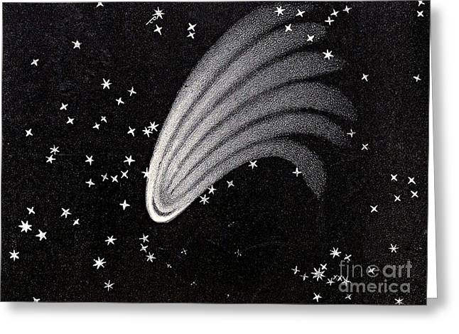 Great Comet Of 1744 Greeting Card by Science Source
