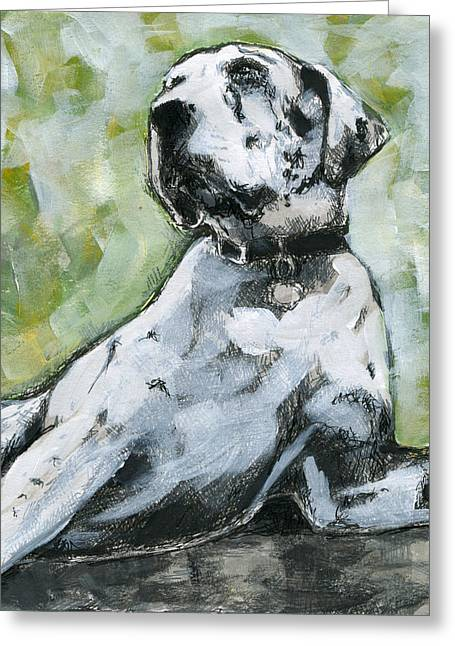 Great Dane Greeting Card by KM Paintings