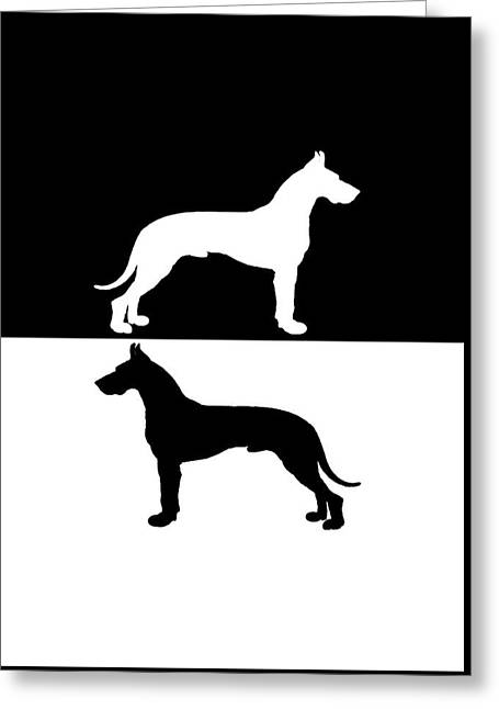 Great Danes Greeting Card by Mordax Furittus
