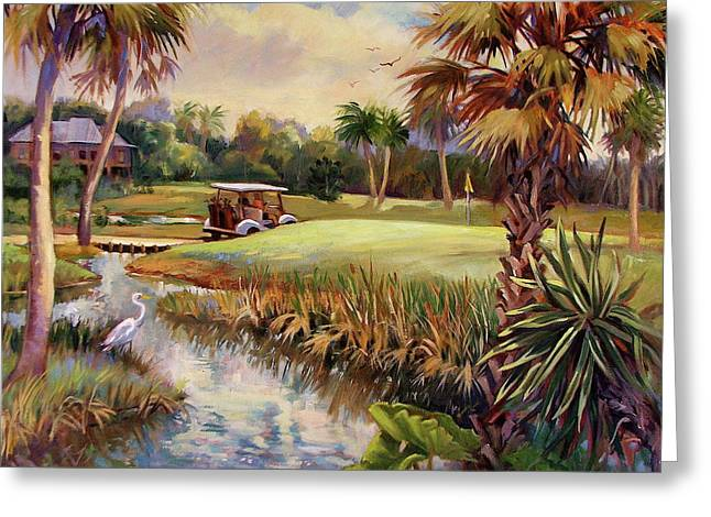Great Day For Golf Greeting Card by Dianna Willman