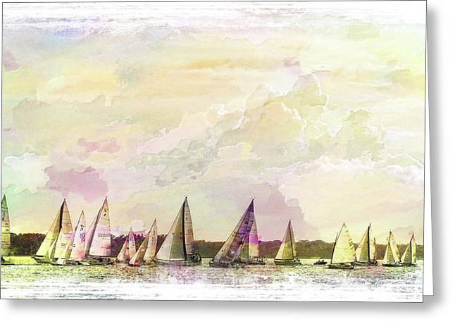 Great Day For Sailing 2 Greeting Card