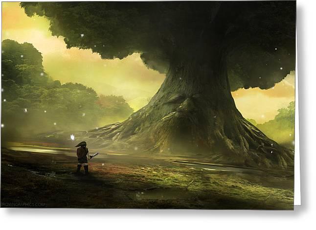 Great Deku Tree Greeting Card