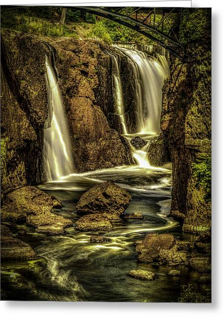 Great Falls Close Up Greeting Card