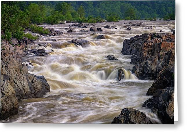 Great Falls Of The Potomac River Greeting Card by Rick Berk