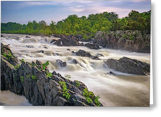Great Falls Greeting Card by Rick Berk