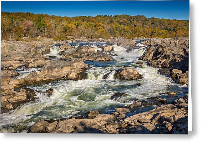 Great Falls Greeting Card by Robert Davis