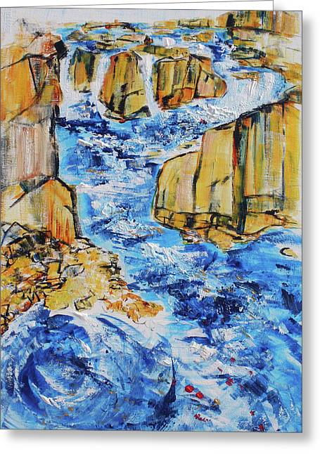 Great Falls Waterfall 201754 Greeting Card by Alyse Radenovic
