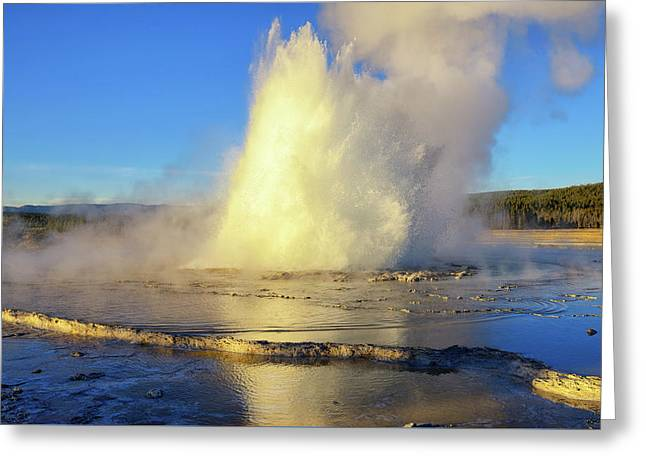 Great Fountain Eruption Greeting Card