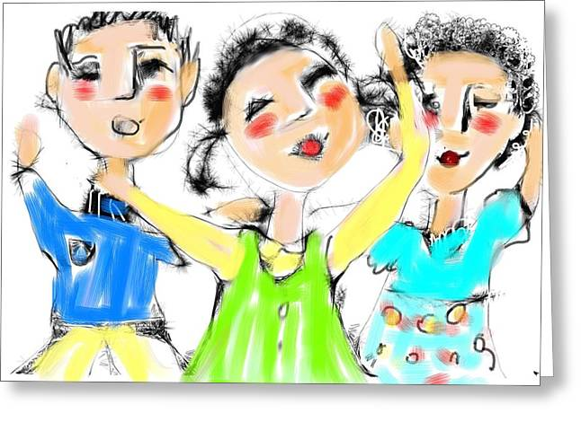 Great Friends Greeting Card by Elaine Lanoue