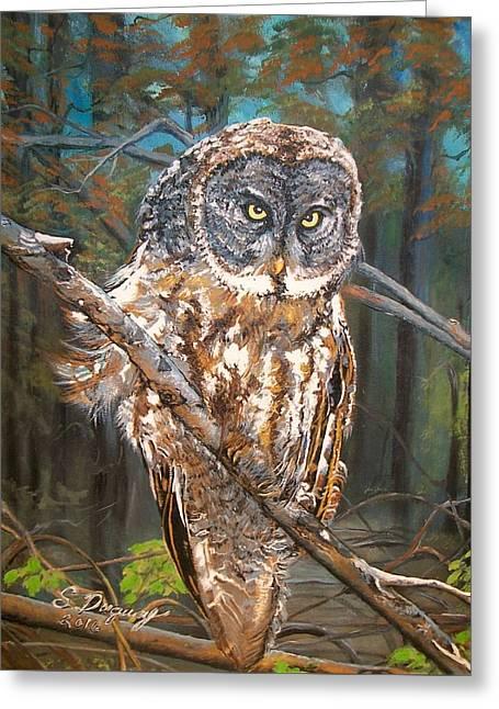 Great Grey Owl 2 Greeting Card