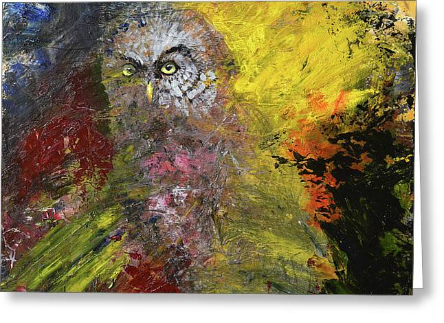 Great Grey Owl Greeting Card by Sean Seal