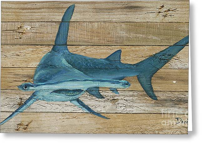 Great Hammerhead Greeting Card by Danielle Perry