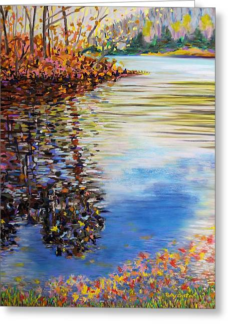 Great Hollow Lake In November Greeting Card