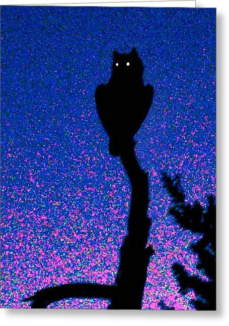 Great Horned Owl In The Desert Greeting Card