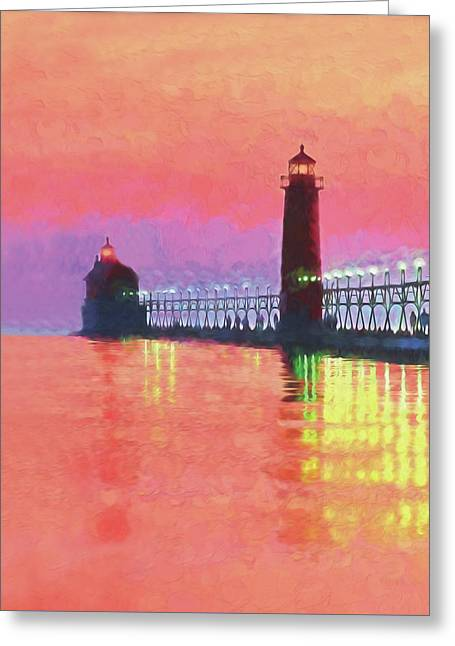 Great Lakes Light Greeting Card