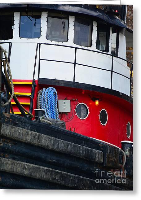 Great Lakes Tugboat Greeting Card