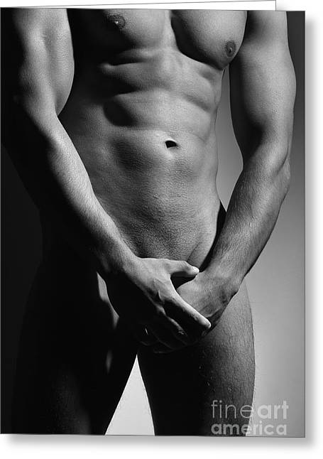 Great Nude Male Body Greeting Card