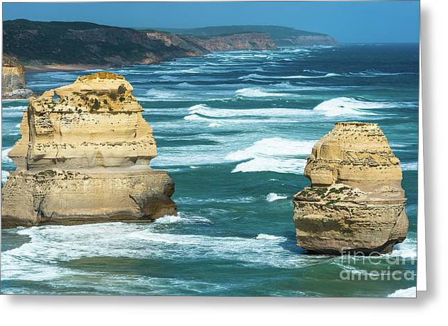 Great Ocean Road Greeting Card by Andrew Michael
