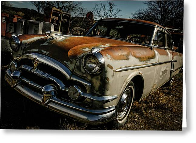 Greeting Card featuring the photograph Great Old Packard by Marilyn Hunt