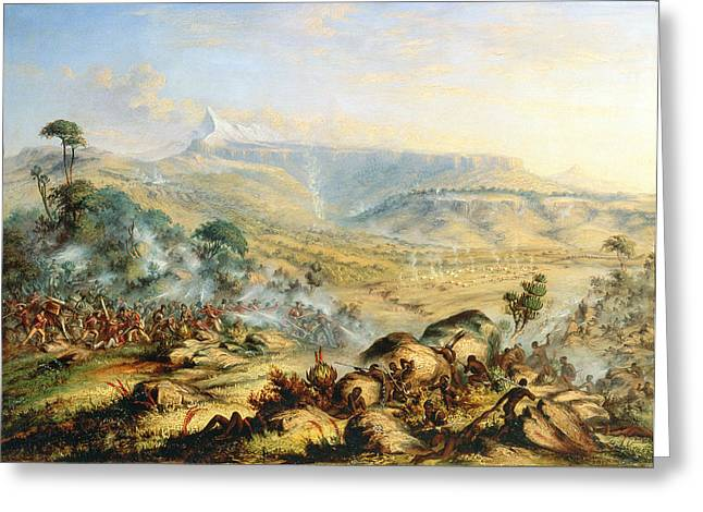 Battle Greeting Cards - Great Peak of the Amatola-British-Kaffraria  Greeting Card by Thomas Baines